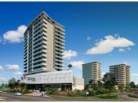 An artist impression of the proposed Marina Square development at Urangan Harbour.