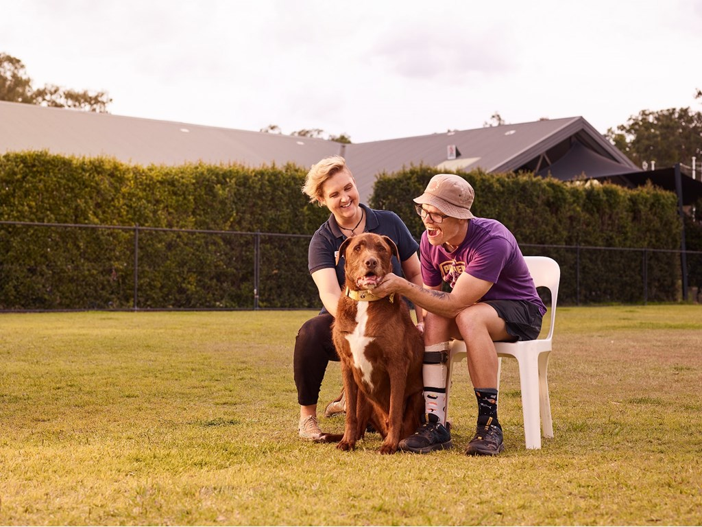 Happy Paws Happy Hearts at Wacol provide programs for people experiencing social isolation