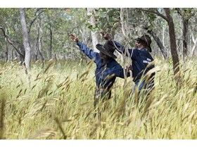 Olkola Rangers Jack and Fred. The Olkola Aboriginal Corporation currently owns and manages over 800,000 hectares of Olkola Traditional lands in Central Cape York.