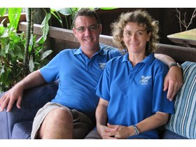 Hamish and Isabella Haslop of Mungumby Lodge, Rossville