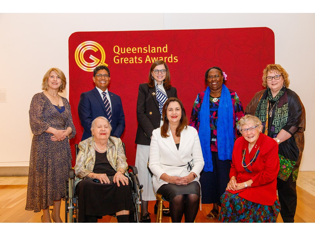 Premier Annastacia Palaszczuk with the 2021 Queensland Greats, one of the biggest state events following Queensland Day. Community groups can apply for funding for their own local Queensland Day event next year.