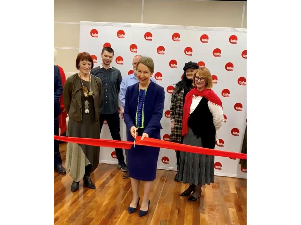 Minister Farmer officially opening the new Fashion Centre of Excellence at Mt Gravatt TAFE