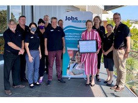 Minister Farmer with the Fraser Coast Regional Jobs Committee